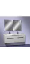 "Vanity Unit  ""Double"" with white washstand"