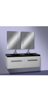 "Vanity Unit ""Double"" with a black washstand"