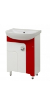 "Vanity Unit  ""Eliza""-55 with washstand ""Arteco-55"" (red, black)"