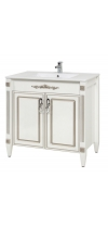 """Vanity Unit """"Romance 80""""- with washstand """"Elit 80"""" (silver), 70908629"""
